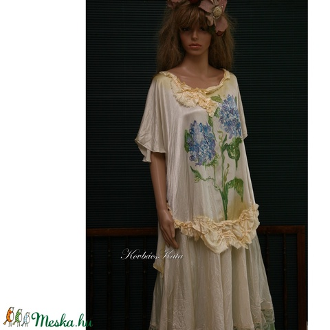 HORTENZIA - art to wear blúz XXL (Aranybrokat) - Meska.hu
