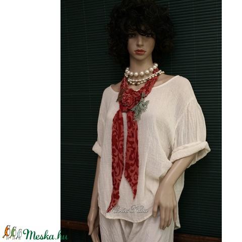 VERONA / ékszersál- art to wear textilékszer (Aranybrokat) - Meska.hu