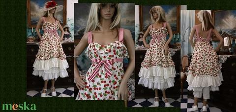 MICHELLE - cseresznyés ruha - design dolly-ruha  (Aranybrokat) - Meska.hu