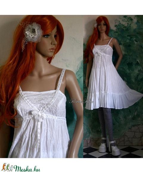 AIDA - hímzett pamut lolita ruha  (Aranybrokat) - Meska.hu