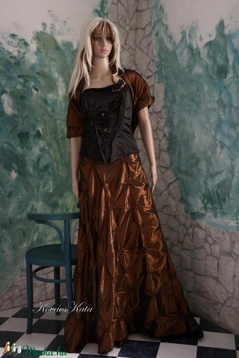 ZINNIA - háromrészes estélyi ruha  XL-design  (Aranybrokat) - Meska.hu