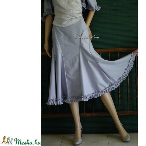 GIZA-SZETT - romantikus design- háromrészes ruha: szoknya, boleró, selyemtop (Aranybrokat) - Meska.hu