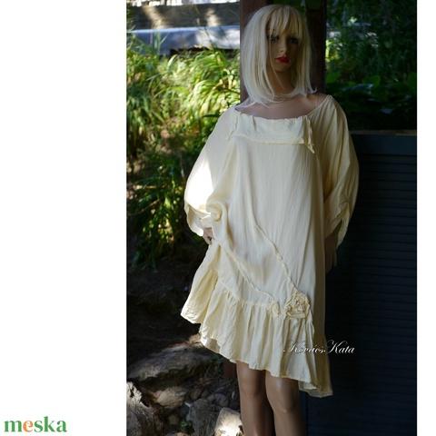 GINA - viszkóz-selyem flapper ruha, tunika-ruha (Aranybrokat) - Meska.hu