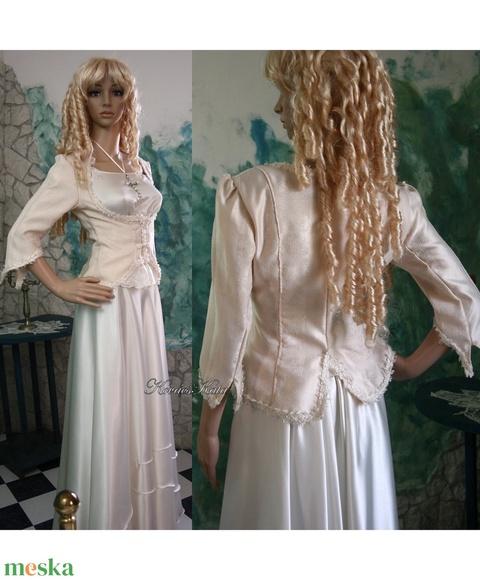 JULIE-SZETT - háromrészes menyasszonyi öltözet (Aranybrokat) - Meska.hu