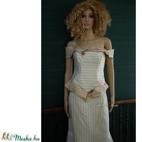 LIZA - romantikus menyasszonyi kosztüm (Aranybrokat) - Meska.hu