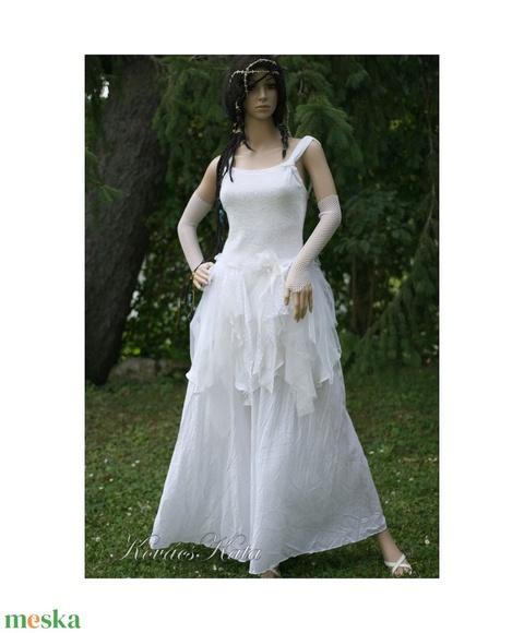 SHARON - bohém alternatív menyasszonyi ruha  - Meska.hu
