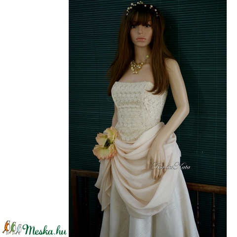 MADELINE - barokkos menyasszonyi ruha  - Meska.hu