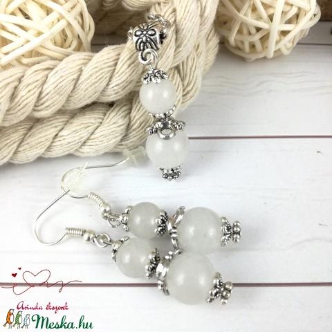 Jade ásvány nyaklánc fülbevaló szett - Meska.hu