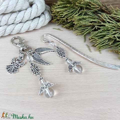 Hegyikristály angyalka könyvjelző kulcstartó szett pedagógus karácsony szülinap névnap - Meska.hu