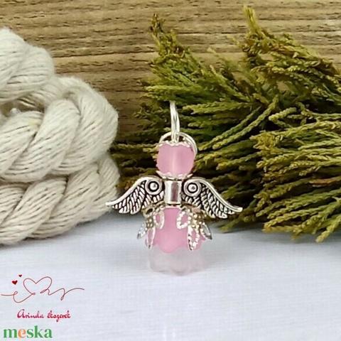 Kedvesség rózsaszín angyal 5 darabos csomag pedagógus karácsony mikulás szülinap névnap medál ajándékkísérő - Meska.hu