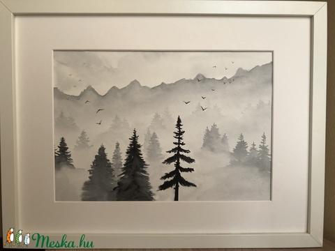 Fekete-fehér eredeti akvarell (ArnoldMonika) - Meska.hu