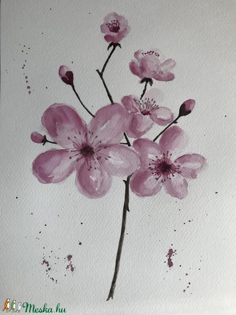 Nyíló tavasz - eredeti akvarell (ArnoldMonika) - Meska.hu