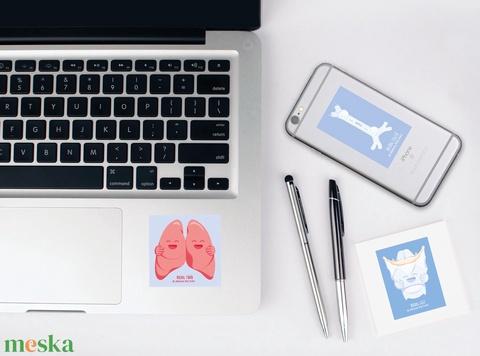 Boldog Dalolás - matrica csomag / tüdő / hangszál / légcső / torok  / orrdugulásra / dohányzás - Meska.hu