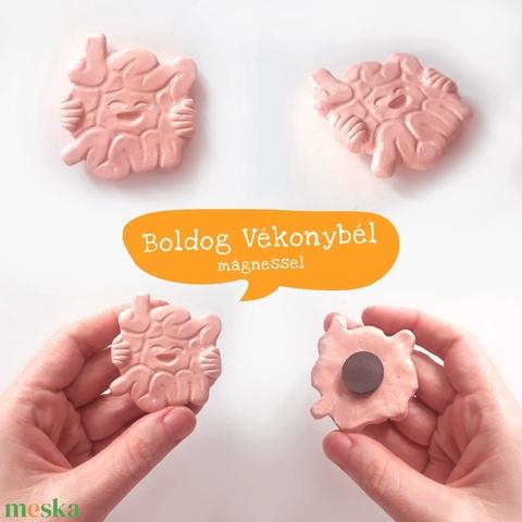 BOLDOG BELEK / Boldog emésztés , vékonybél, vastagbél, kerámia hűtőmágnes vagy szalagos dísz - Meska.hu