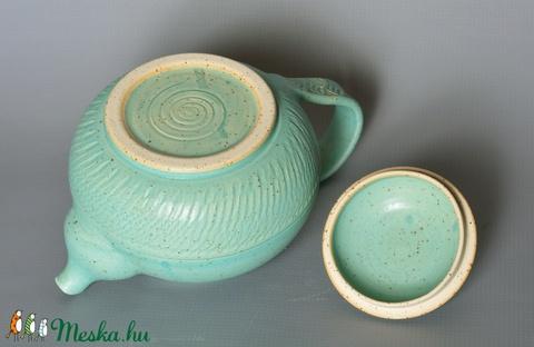 Kerámia teáskanna (türkiz 2) (atmankeramia) - Meska.hu