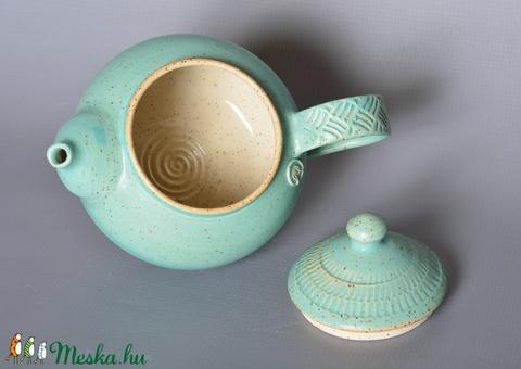 Kerámia teáskanna (türkiz 3) (atmankeramia) - Meska.hu