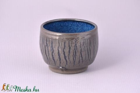 Kerámia  japános teáscsésze (fekete-kék) - otthon & lakás - konyhafelszerelés - bögre & csésze - Meska.hu