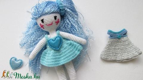 Kékhajú tündér - amigurumi baba - horgolt baba - baba ruhatárral - öltöztetős baba (Bababolt) - Meska.hu
