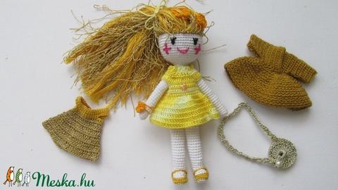 Aranyhaj Goldy - amigurumi baba - horgolt baba - öltöztetős baba - játékbaba (Bababolt) - Meska.hu
