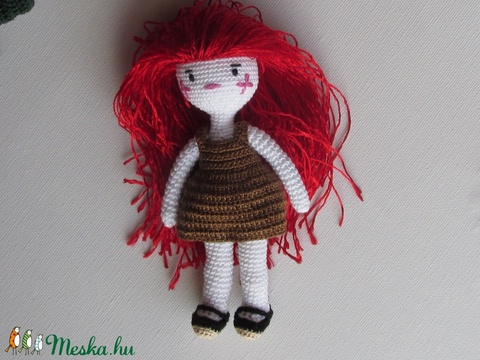 Rózsa Rozalinda amigurumi baba - horgolt baba - baba ruhatárral - öltöztethető babaet (Bababolt) - Meska.hu