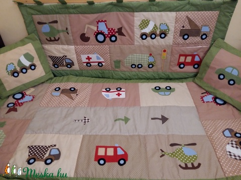 Patchwork falvédő járműves applikációval - Meska.hu