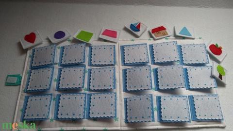 Memóriajáték - Csendeskönyvből egy oldal, okoskönyv, textilkönyv, babakönyv - Meska.hu