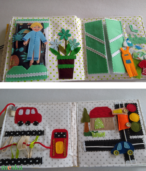Fiúknak markolós, traktoros, autó szerelős, foglalkoztató, készségfejlesztő csendes könyv, utazós játék személyreszabott (Babam) - Meska.hu