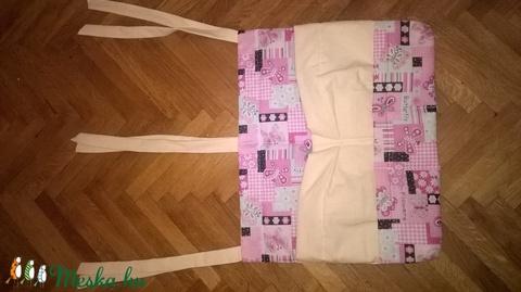 Babaágynemű 4 részes rózsaszín, virágos pillangós (babaszett) - Meska.hu