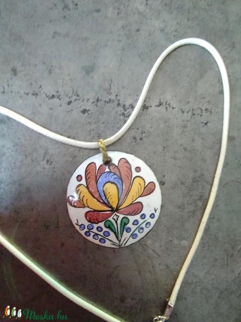 Matyó rózsás tűzzománc medál  (Bagika) - Meska.hu