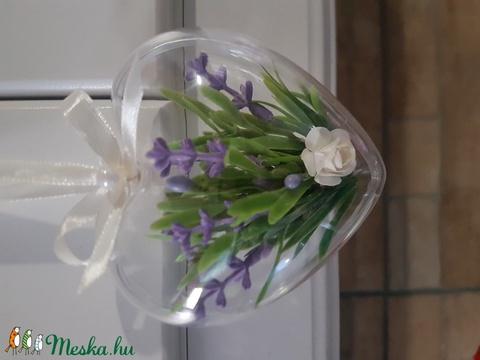Szív virággal - Meska.hu
