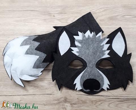 Farkas maszk+farkinca (barbanya) - Meska.hu