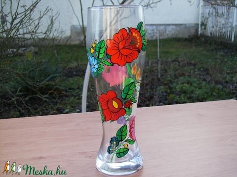 Kézzel festett üveg váza . (bartokaniko) - Meska.hu