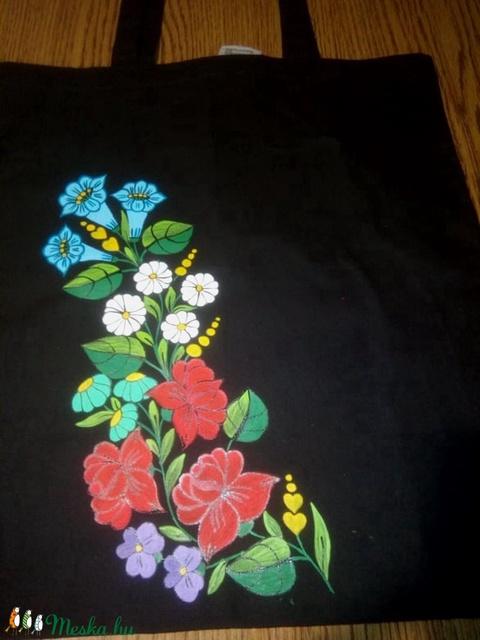 Kalocsai kézzel festett pamut táska . - Meska.hu