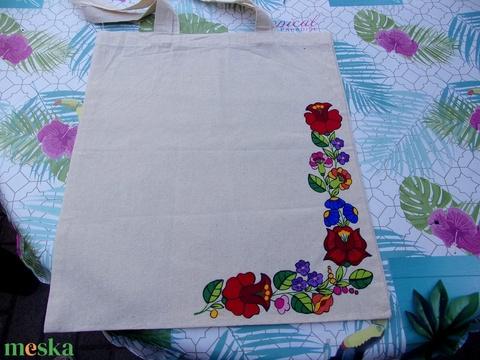 Kalocsai kézzel festett vászón táska . - Meska.hu