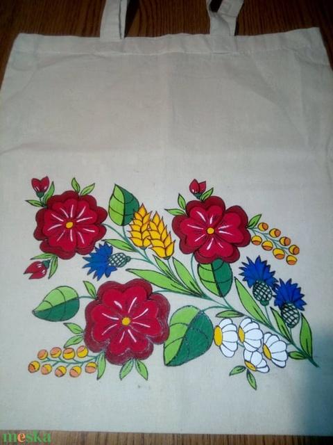 Kalocsai kézzel festett vászon táska . (bartokaniko) - Meska.hu