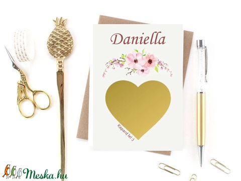 Esküvői tanúfelkérő / koszorúslány felkérő lap - kaparós sorsjegy hatású képeslap (BBdesign) - Meska.hu