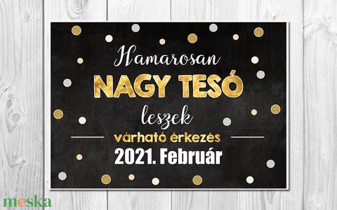 Babaváró fotózáshoz poszter - Kismama fotózás, tesó leszek A3 méret, keret nélkül - Meska.hu