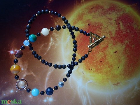 Naprendszer nyaklánc - T-kapoccsal - Meska.hu