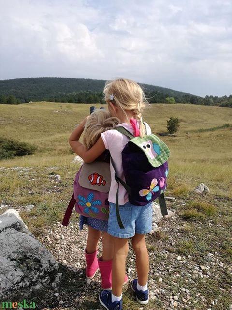 Katicás lila rózsaszín hátizsák (belinbolt) - Meska.hu