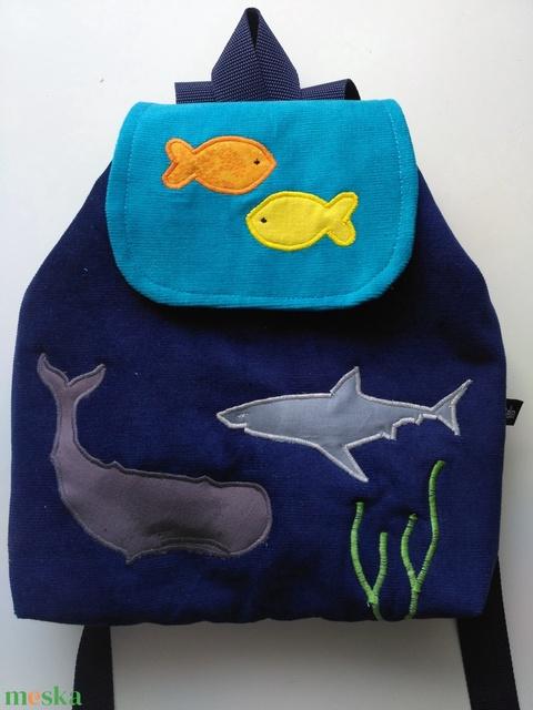 Tenger, cápa, hal mintás gyerekhátizsák (belinbolt) - Meska.hu
