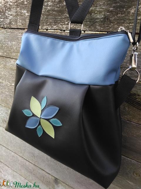 Kék fekete 3in1 táska hátizsák  (belinbolt) - Meska.hu