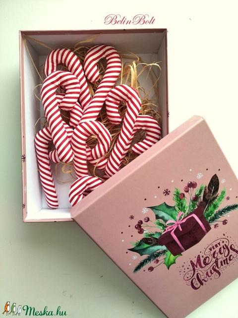 Cukorpálca karácsonyfadísz díszdobozban 10 db (belinbolt) - Meska.hu