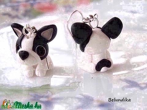 Francia Bulldog  fülbevaló - Meska.hu