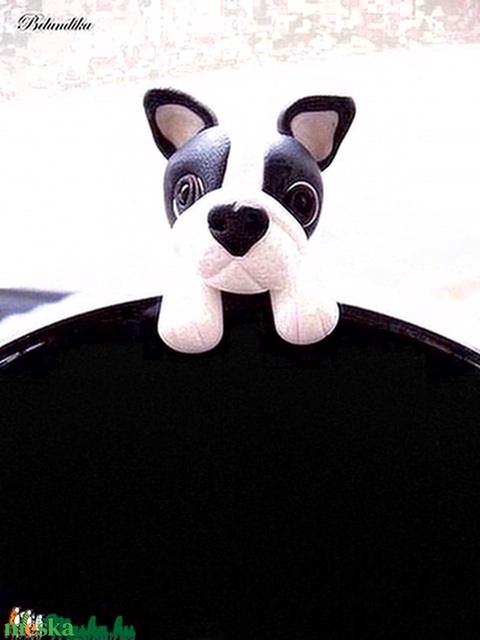 Francia Bulldog teafiltertartó (Belundika) - Meska.hu