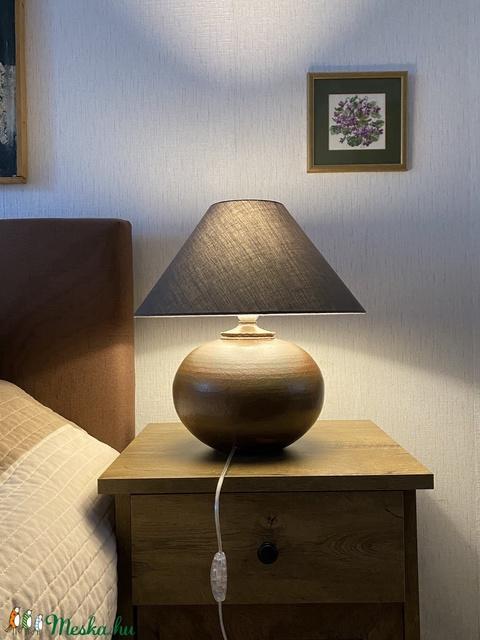 Rusztikus, agyagmázas asztali lámpa - Kerámia asztali lámpa - Meska.hu