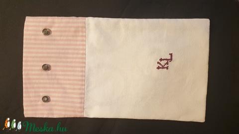 Egyedi vintage kenyérzsák, monogramos textil zsák, fehérnemű zsák, hímzett gombos zsák - Meska.hu