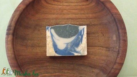 Vegán szenes és kék agyagos szappan (Bhumi) - Meska.hu