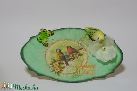 Édes otthon sötétben világító madaras pillangós virágos fa  kopogtató, ajtódísz, falidisz. Ajándék nőnapra anyák napjára (Biborvarazs) - Meska.hu