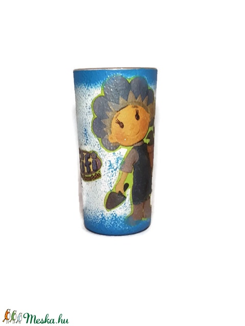 Fifi kulacs és  ivó pohár Fifi képével dekorálva gyermeknapra, szülinapi, névnapi, karácsonyi ajándék (Biborvarazs) - Meska.hu