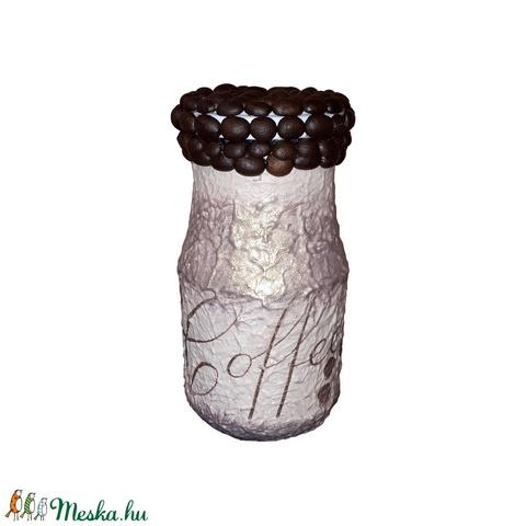 Kávé illat, ami nem csak a kávétartóból jön, kávésüveg kávészemekkel (4dl) (Biborvarazs) - Meska.hu